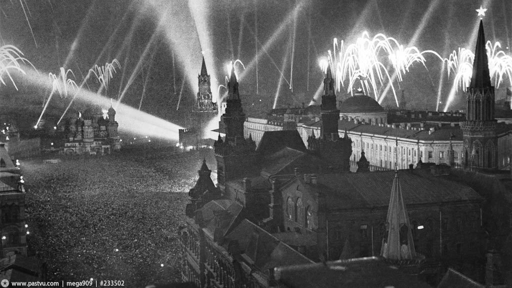 may 9 1945 Moscow firework victory day